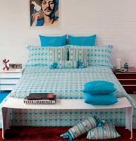 renkli yatak örtüleri