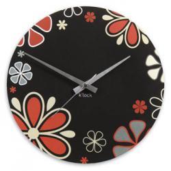 K'lock Çiçek Desenli Duvar Saati