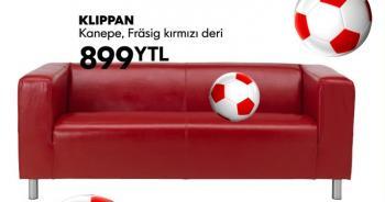Ikea Klippan Deri Kanepe