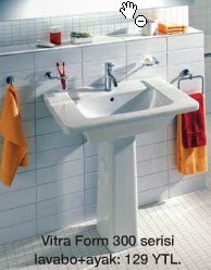 Vitra Form 300 Serisi lavabo + ayak