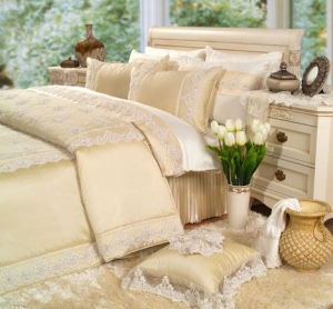 Home Sweet Home - Krem Beyaz Yatak Örtüsü
