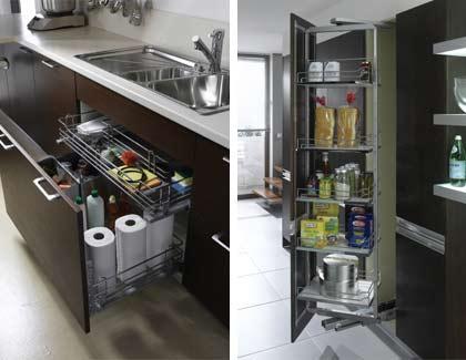İntema Mutfak - Dolap ve Çekmece Aksesuarı